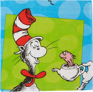 Dr Seuss Cat In The Hat Lunch Napkins