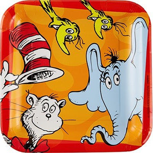 Dr Seuss Cat In The Hat Paper Dinner Size Plates