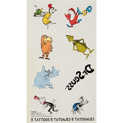Dr Seuss Cat In The Hat Temporary Tattoo Favours