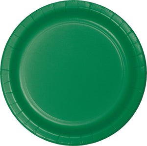 Emerald Green Paper Snack Plates