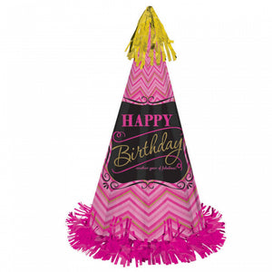 Party Hat-Fabulous large Cone Hat Pink