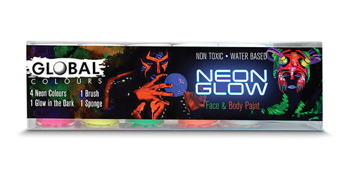 Neon Glow Face & Body Paint Set - Global Colors