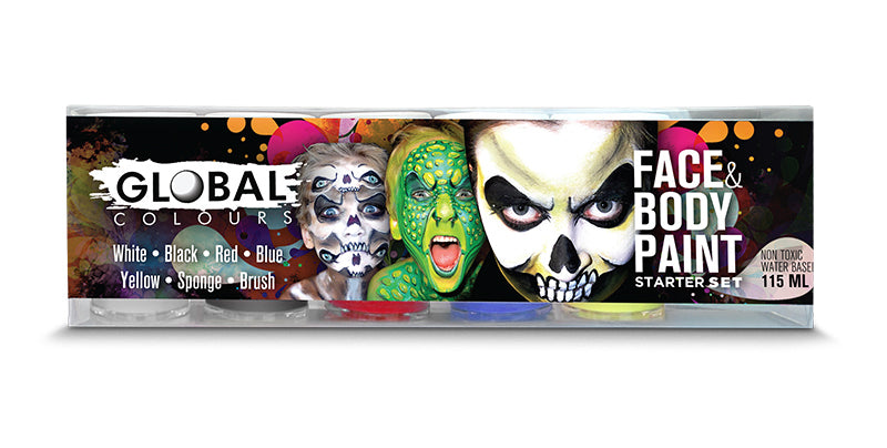Face & Body Paint Starter Set-Global Colors