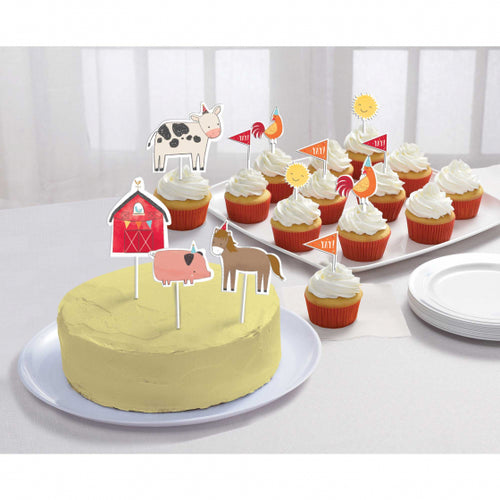 Farm Theme Cake Topper Kit