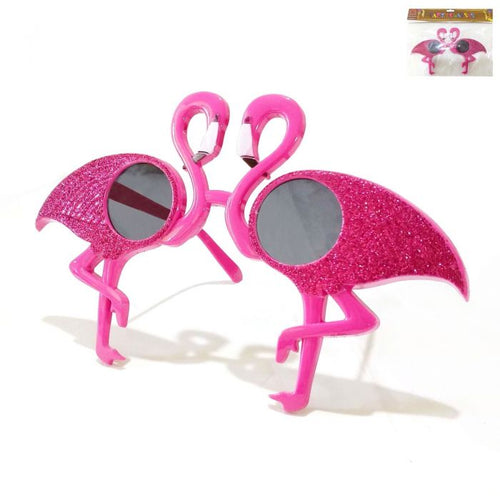 Flamingo Glitter Glasses