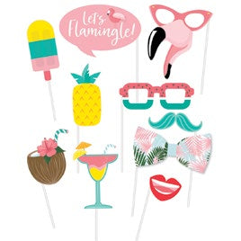 Flamingo and Tropical Photo Props