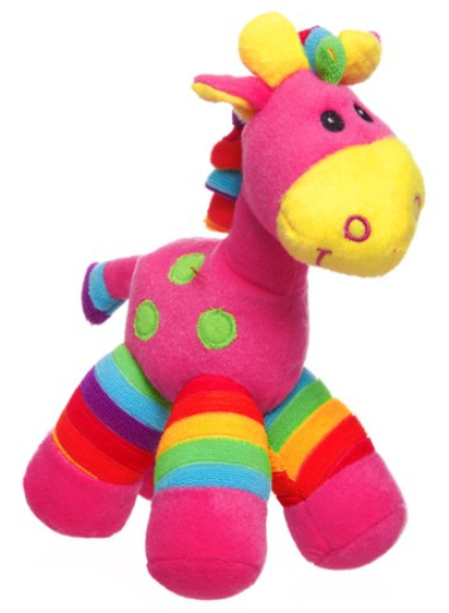 Gerry Giraffe Bright Stripes - pink
