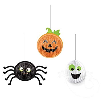 Honeycomb Halloween Hanging Decorations