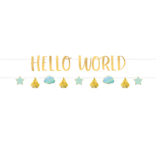 Hello World 2 banner kit - blue & gold