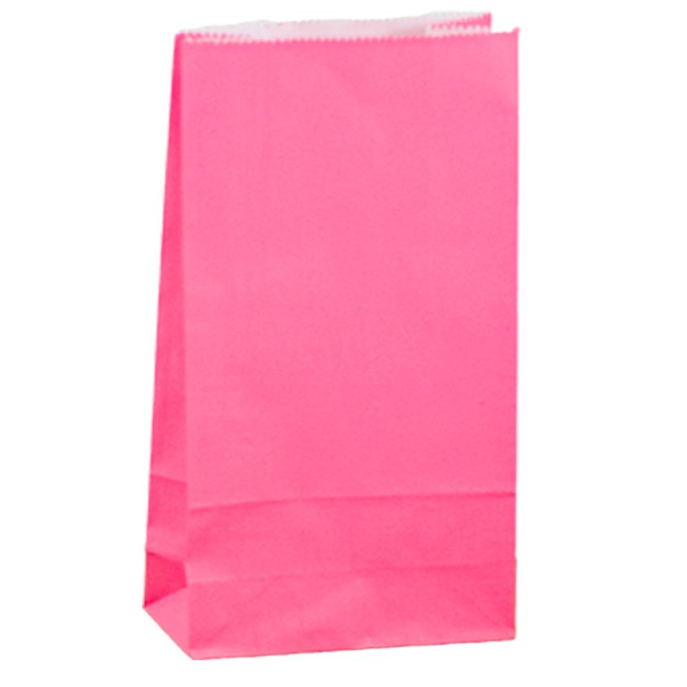 Pink Paper Lolly Bags