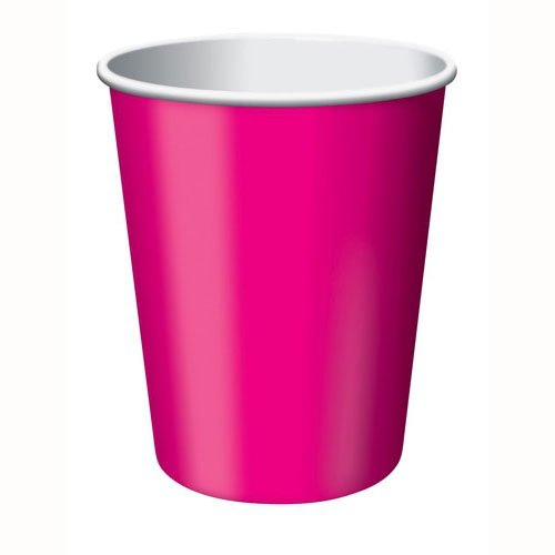 Hot Pink Paper Cups