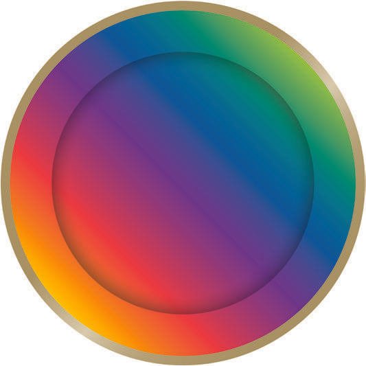 Rainbow party paper plates