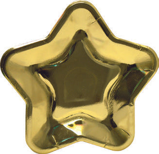 Star shape paper plates - Gold