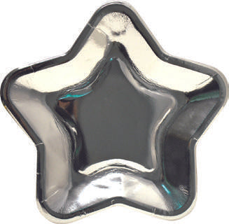 Star shape paper plate - Silver