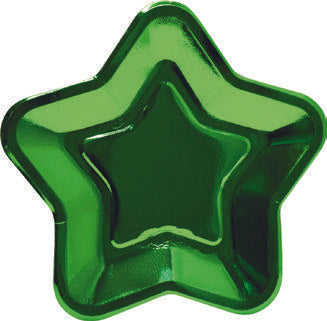 Star shape paper plates - Green