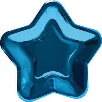 Star shape paper plates - Blue