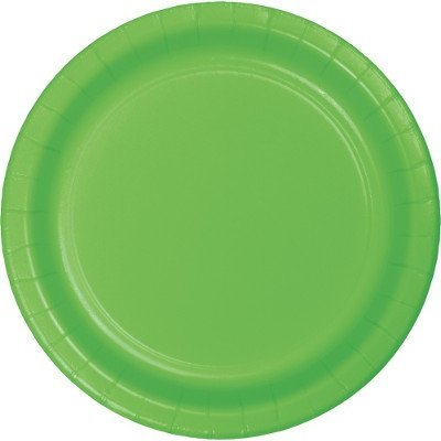 Lime Green Paper Snack Plates