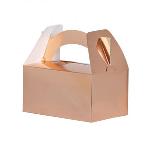Metallic Rose Gold Lunch Boxes Pack 5