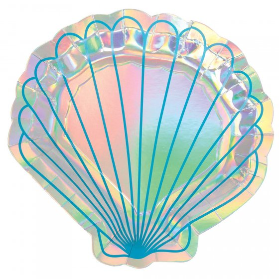 Mermaid Shell Shape Plates