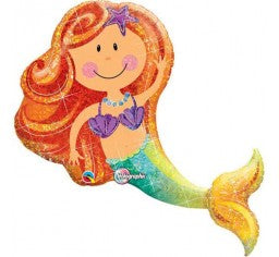 Mermaid Supershape Foil Balloon- Merry Mermaid