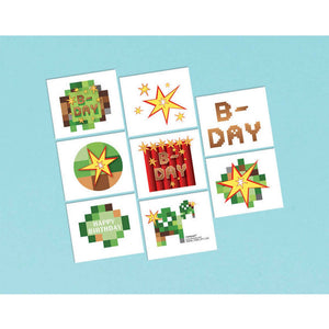 Minecraft - TNT Party Temporary Tattoos