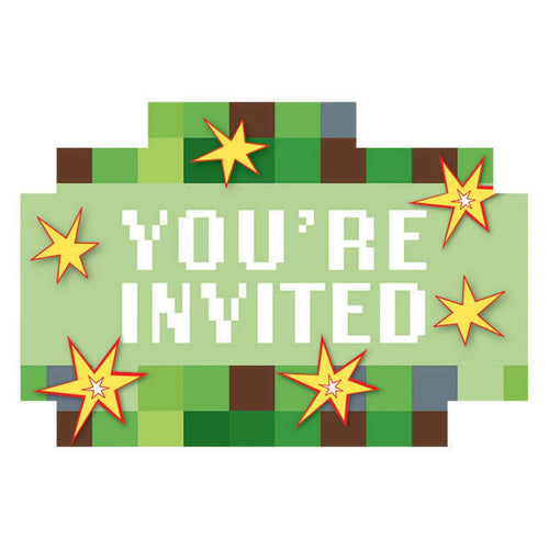 Minecraft-TNT Party Invitations