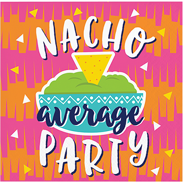 Nacho average party beverage napkins