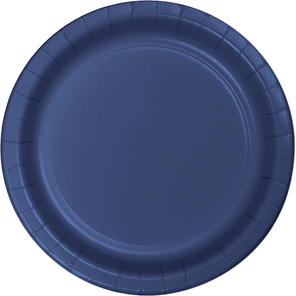 Navy Blue Paper Snack Plates
