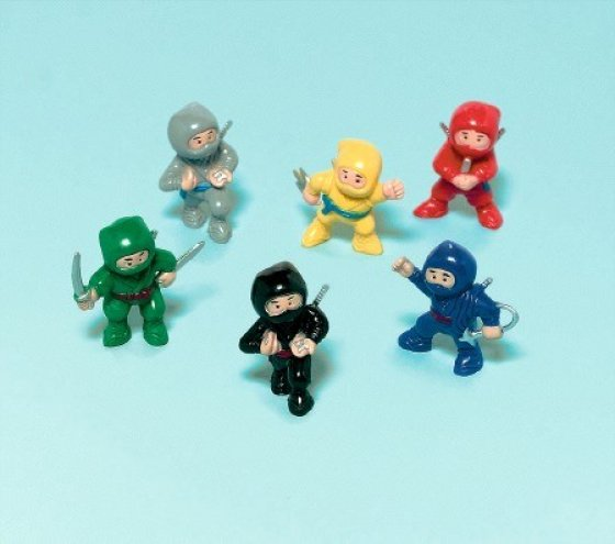 Ninja figurines - party favours value pack
