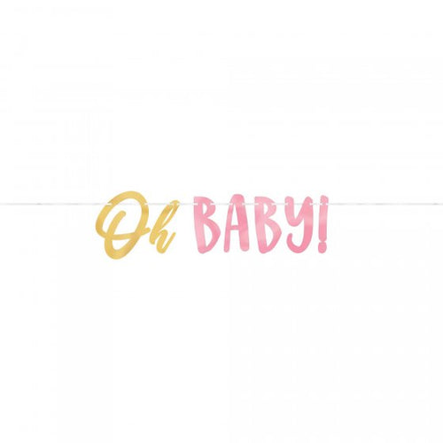 Oh Baby Banner - Pink