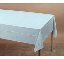 Pale Blue Rectangle Plastic Tablecover