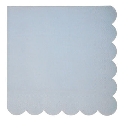 Pale Blue Scallop Edge Napkins