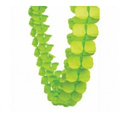 Lime Green Paper Honeycomb Garland