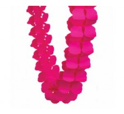 Magenta/Hot Pink Paper Honeycomb Garland