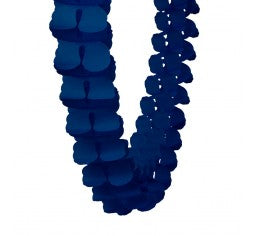 Navy Blue Paper Honeycomb Garland