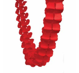 Red Paper Honeycomb Garland