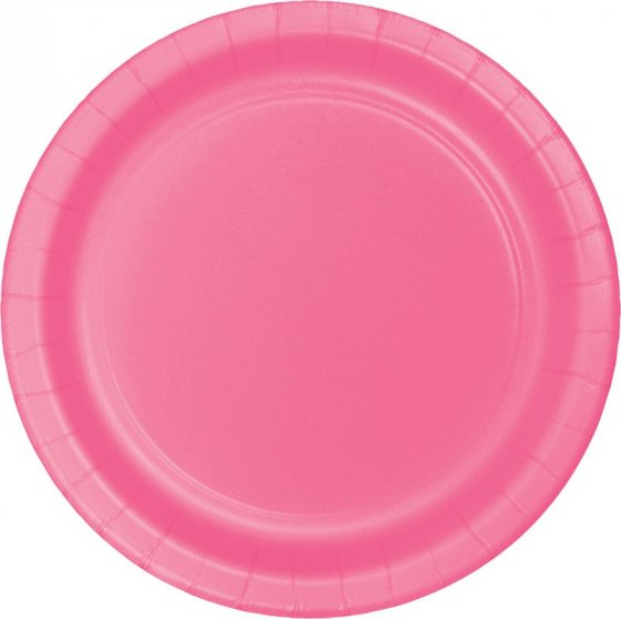 Candy Pink Paper Dinner Plates