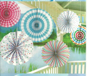 Paper Fan Set-Candy Spots and Stripes