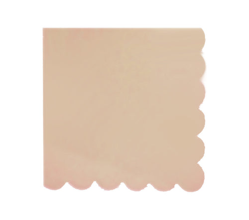 Peach Scallop Edge Napkins