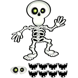 Pin the smile on the skeleton party game