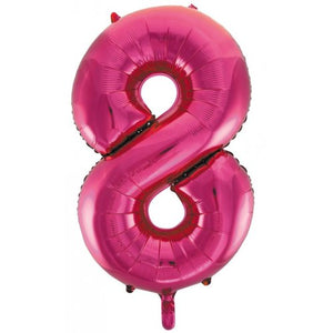Number 8 Foil Balloon Pink - Jumbo