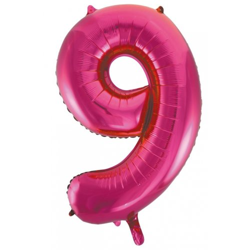 Number 9 Foil Balloon Pink - Jumbo