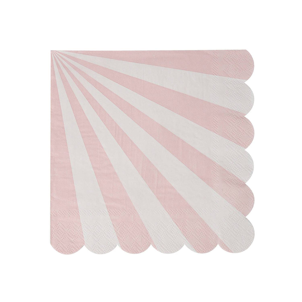 Pink and White Scallop Edged Napkins
