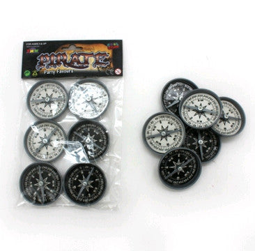 Pirate Novelty Compass 6 pack