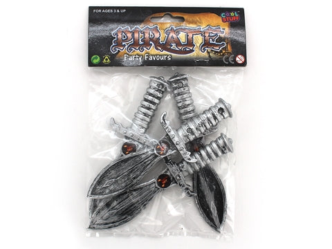 Pirate mini swords pack 4