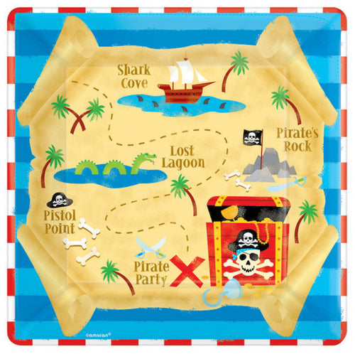 Pirates treasure party dinner plates