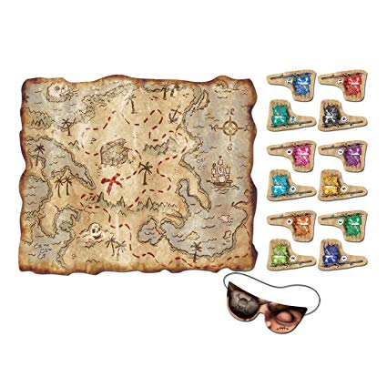 Pin the flag treasure map game