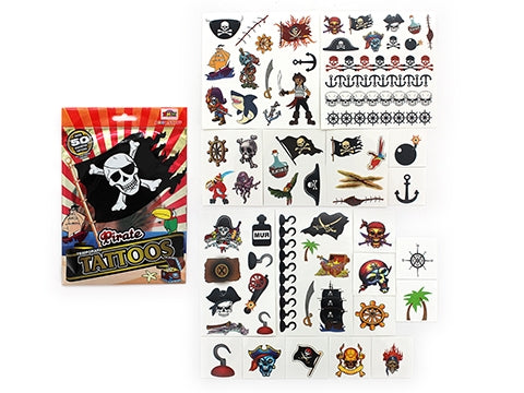 Pirate Temporary Tattoo Bulk Pack 63