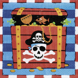 Pirates Treasure party napkins