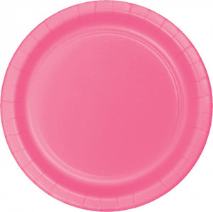 Candy Pink Paper Snack Plates